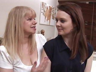 Horny lesbian mature teacher and her horny hot pupil
