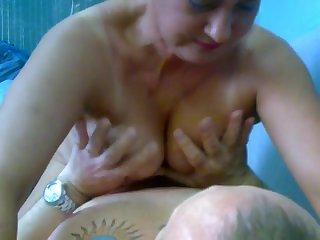 Russian Mature Larisa with Lover / Русская Мамашка Лариса и её Ухажер
