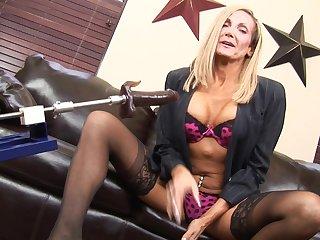 Blonde Erika and her giant black dildo