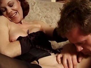 Milf with nice trimmed pussy is getting fucked in face