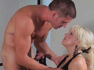 Goddess blonde fuck with a really big dick