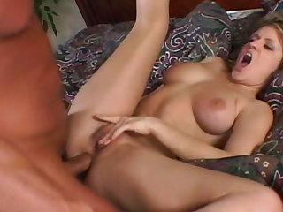 Busty pornstar gets rammed after performing fellatio