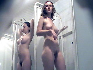 Public shower with nice voyeur moments