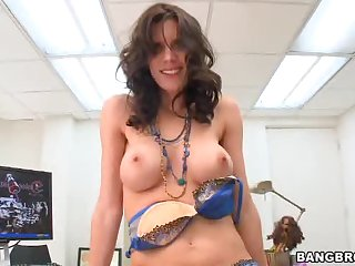Hot and horny girl stuffed