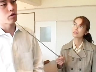 Japanese is kissing her lovely hardcore teacher