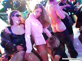 Sluts in furs fucked at winter party