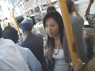 Japanese blowjob on a train