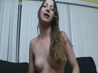 Amateur model Kandii Kiss shows off her small boobies
