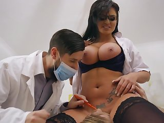 Cougar nurse hard fucked by male with giant cock