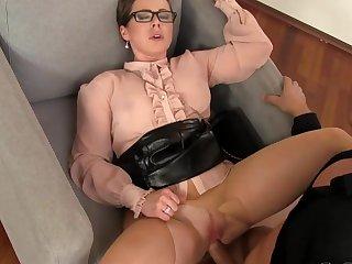 Amazing fuck show with a pissy slut