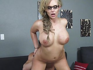 Busty milf gets it deep