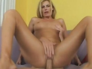 Sexy oiled mom is playing with this nice dick