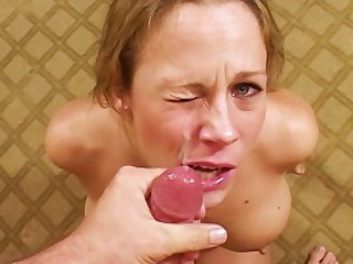 MILF Sunny Day is swallowing cum