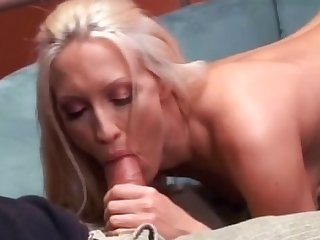 MILF with small tits fucks in her face