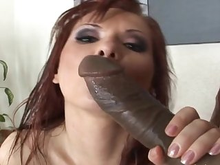 Redhead Katja Kassin and big black dick