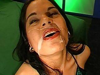 Sweet German chick is swallowing loads of sperm