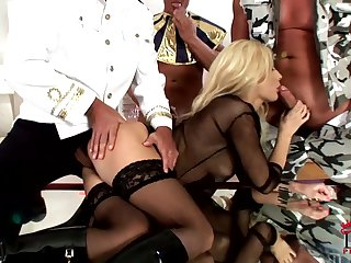 Anal sex with slender blonde Lis