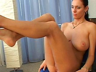Christin Black demonstrates her big boobies