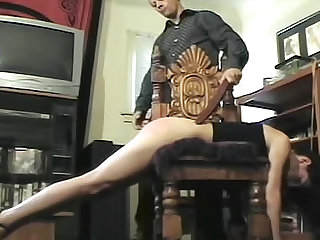 Over the knee spanking for two girls