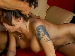 Sweet and sexy Kayla Quinn is sucking boner