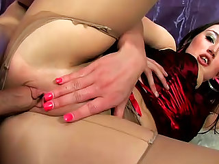 Sex with a sultry pantyhose girl