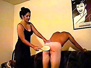 His ass turns bright red during spanking