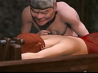 3D tied up hentai girl gets punished and penetrated