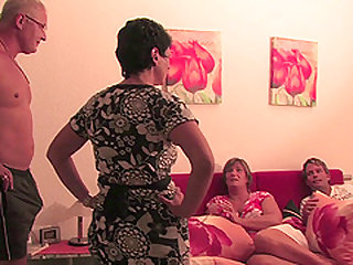 Naughty housewives exchanging some dick-riding tips