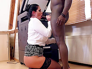 Black guy wants to play with a hot MILF's stunning randy body
