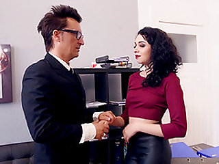 Seduced into sucking and fucking a long boner in the office