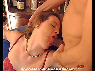 Submissive German bitches get ass fucked and fed semen