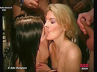 Reaming all her holes then cumming in her hungry mouth
