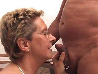 Old couple having sex
