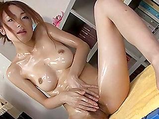 Wet solo with superb Japan modelSara Seori