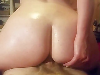 Horny Blonde With Glasses And Tattoos Rides Anal