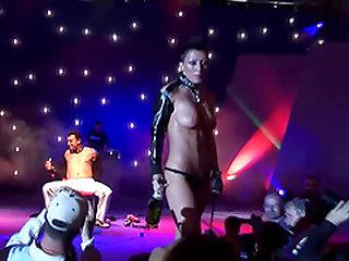extrem bizarre fetish sex show on european public sex fair schow stage