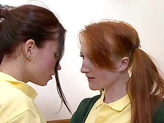 Sabrina Jay and Minnie Manga ends up at a college where students end up becoming lesbians
