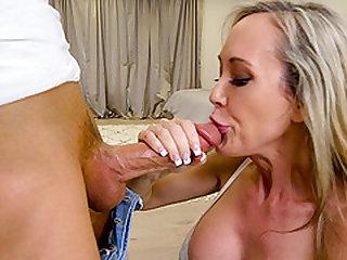Nasty MILF Brandi Love takes charge of a man's member