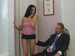 Temptress Tera Bond jerking the boss Horst Baron