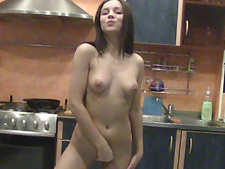 Busty chick loves oiling up her big tits