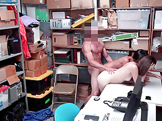 Storage room is where he bones both Arielle Faye and Jasmine Summers