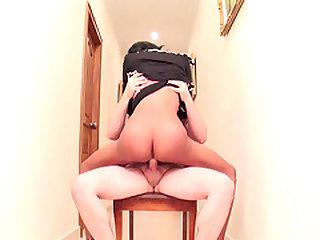 Ladyboy Ying Rides Raw Dick
