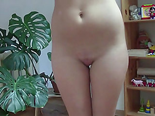 Hot girl with tan lines loves to masturbate