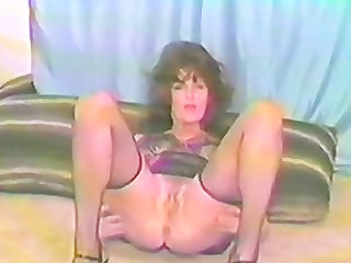 Aroused brunette dildoing her holes determined to cum hard soon