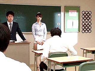Cum-craving teacher's assistant Haruka gets her knees dirty