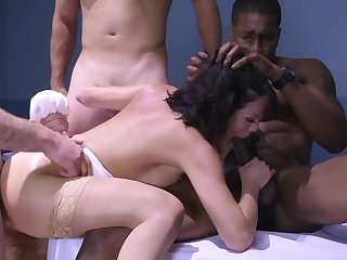 Stunning Veronica Avluv appears in her wedding dress, fucking with a bunch of men in extreme gangbang scenes to grant her multiple orgasms