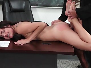 Slutty Adria Rae accepts teacher to pull out his cock for her and slide it into her shaved little cunt, all for a serious hard fucking experience in class