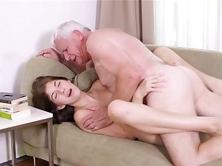 Never did young Rita had such a strong senior cock to make her scream in rough hardcore encounter