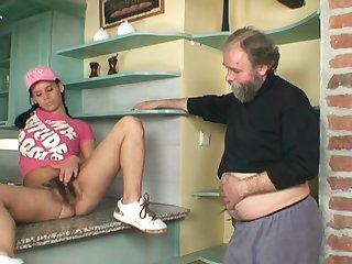 Pretty little schoolgirl is having gorgeous fucking with hardcore penetrator for cash
