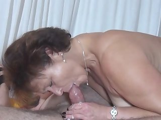 Worth to see the voluptuous show with quite magnificent milf Kerstin G because she's a cocksucker